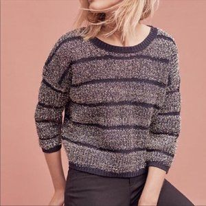 NWT ANTHROPOLOGIE HWR Chunky Knit Striped Sweater